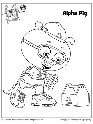 SUPER WHY Coloring Book Pages from PBS | Parents