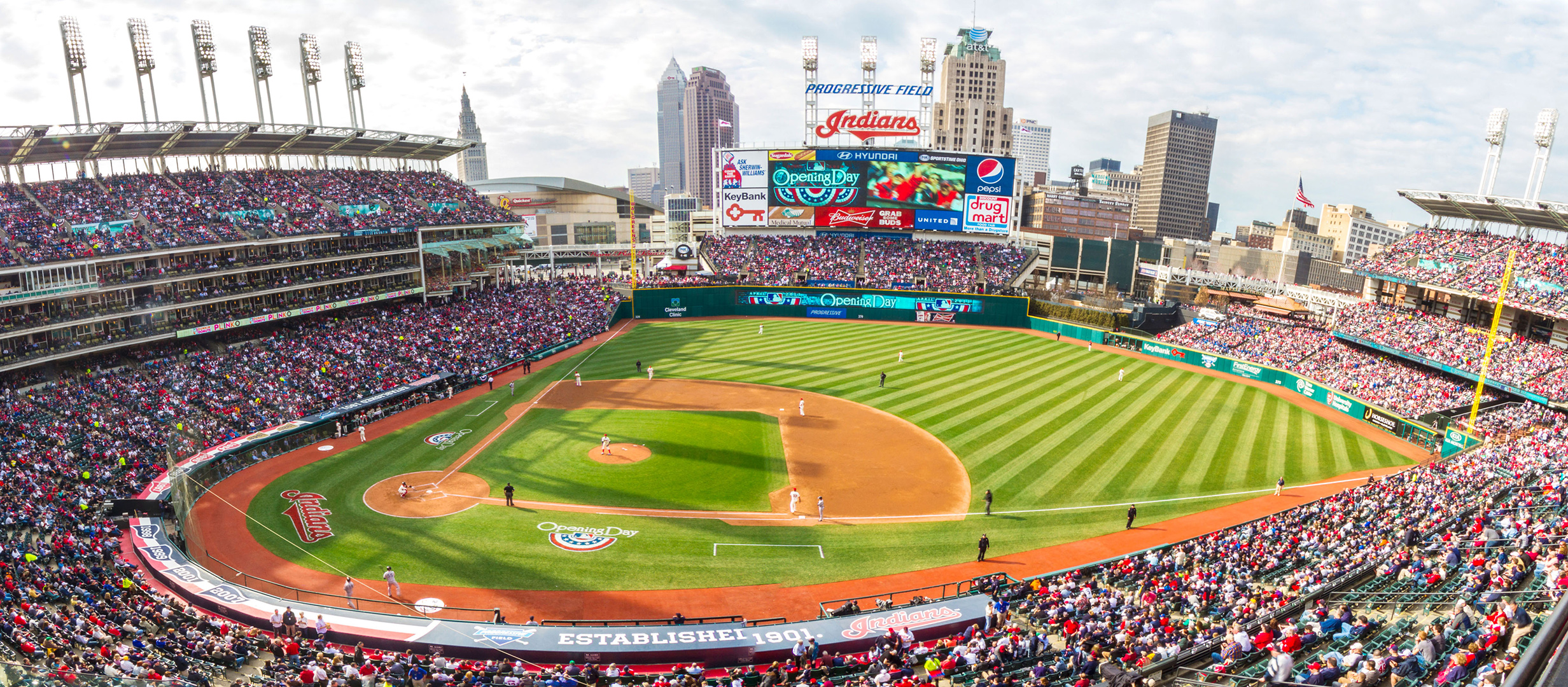 panoramic view of cleveland indian's progressive field
