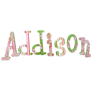 Butterfly Hanging Letters