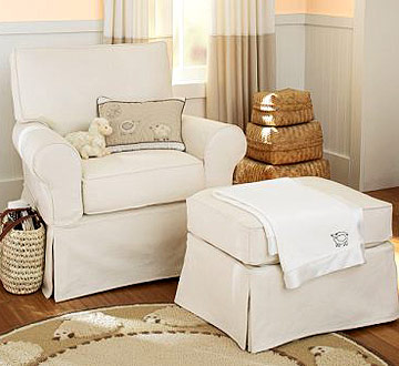 Eco Glider & Ottoman by Pottery Barn Kids
