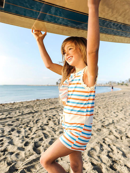 Surfer girl at Doheny Beach