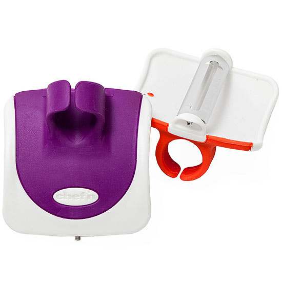 Kitchen peeling tool for kids (purple, white, and red)