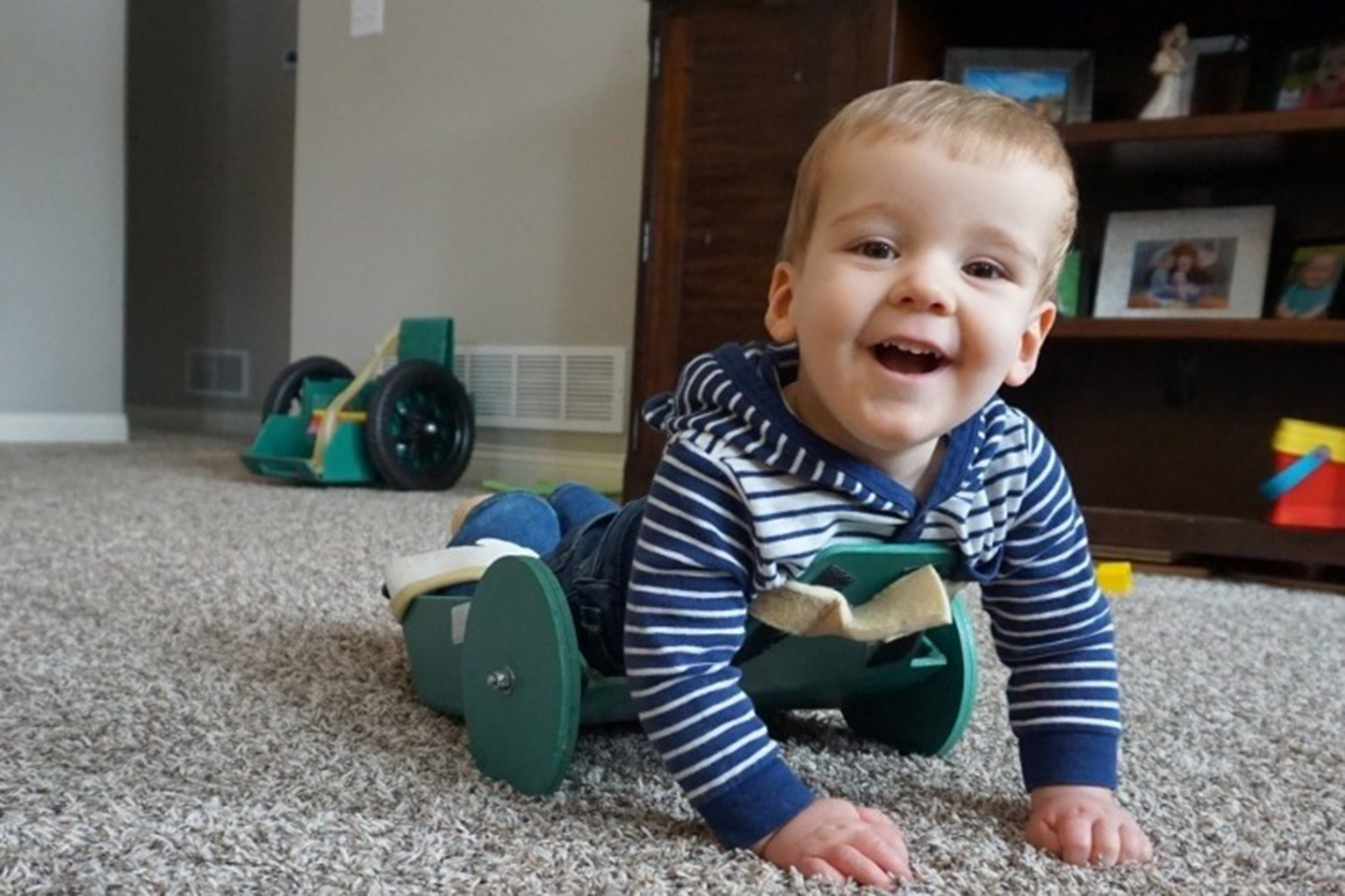 Brody Moreland with Spina Bifida using the Frog
