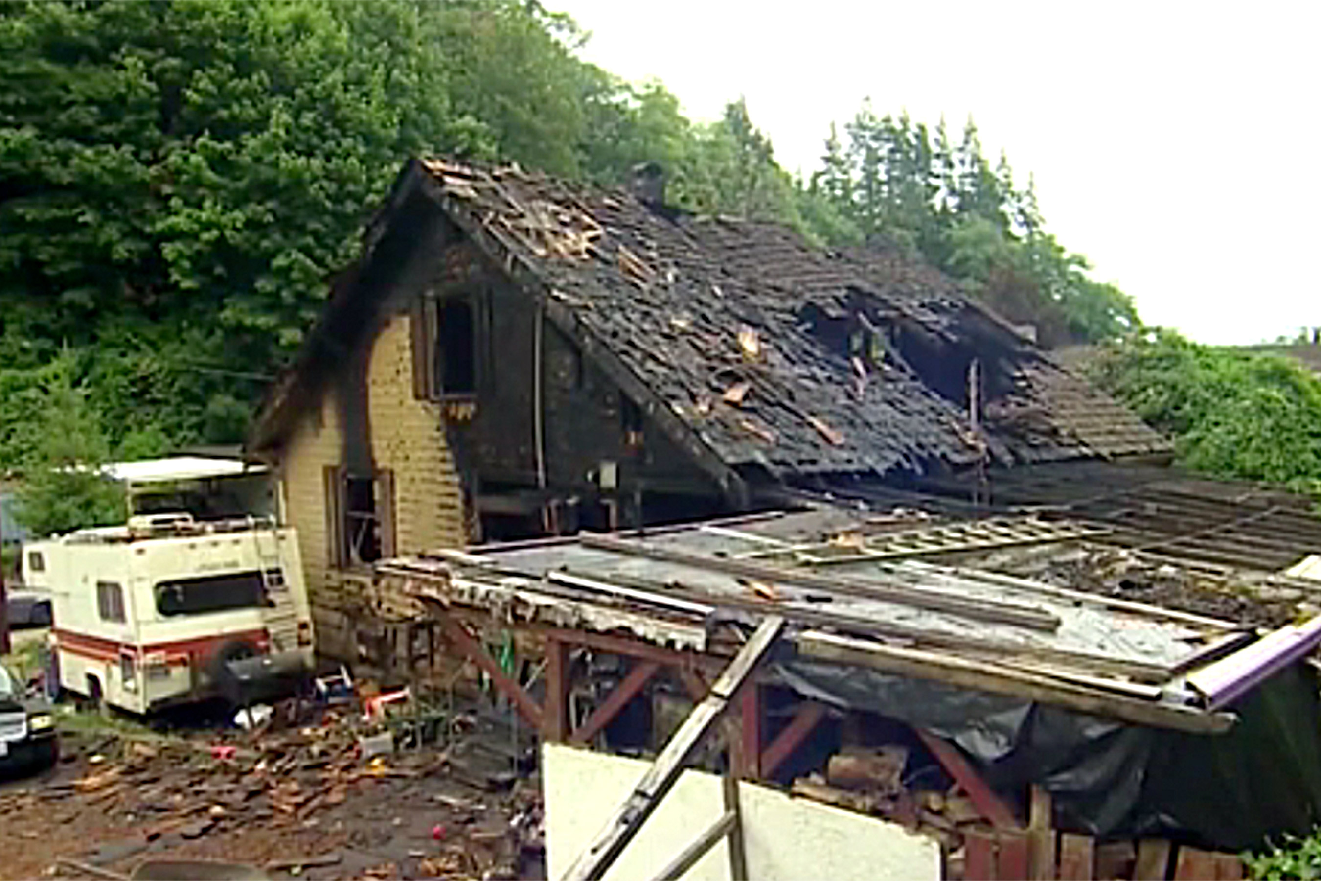 House Burned Down in Aberdeen Washington