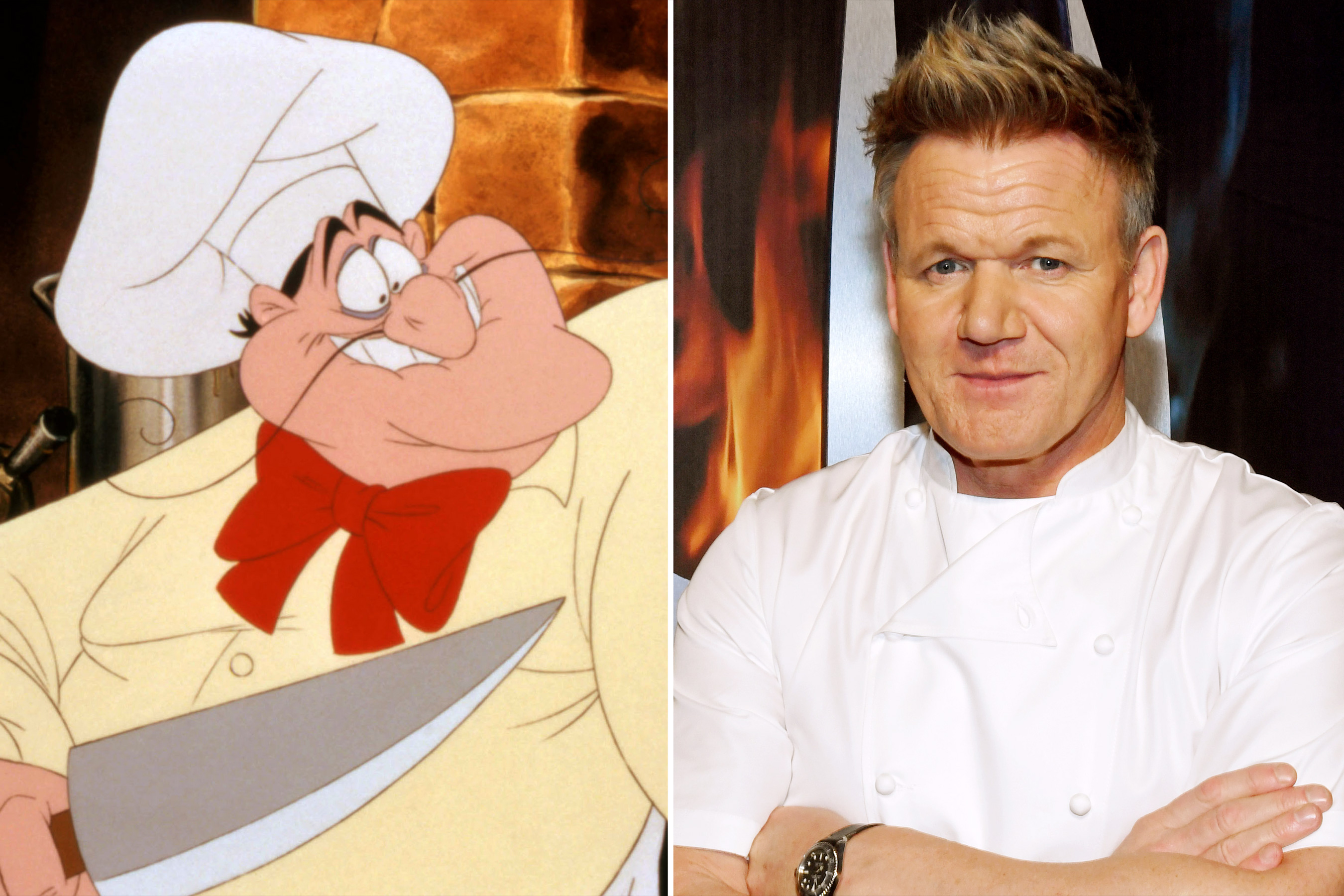 The Little Mermaid Chef Louis and Chef Gordon Ramsay