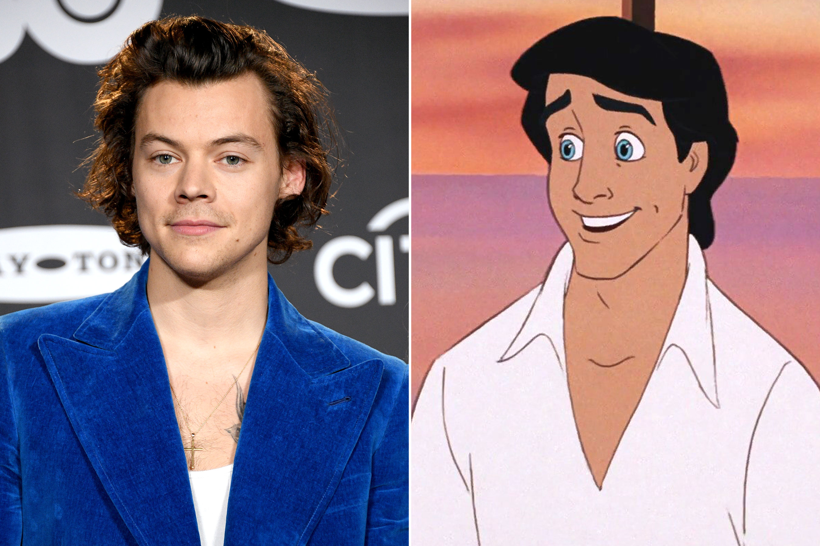 Harry Styles and Prince Eric from the Little Mermaid