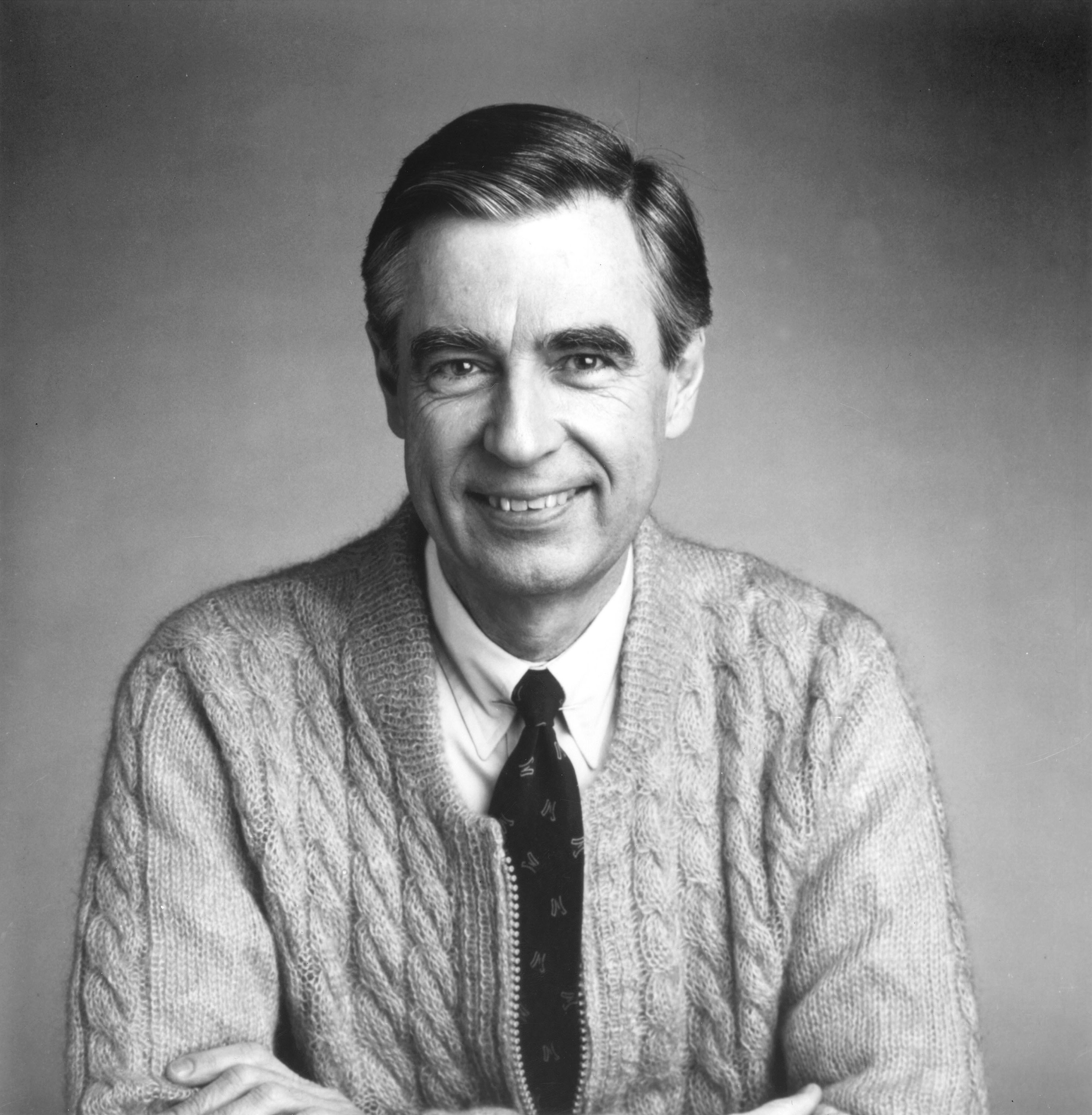 Mr. Rogers Fred Rogers Portrait in Black and White