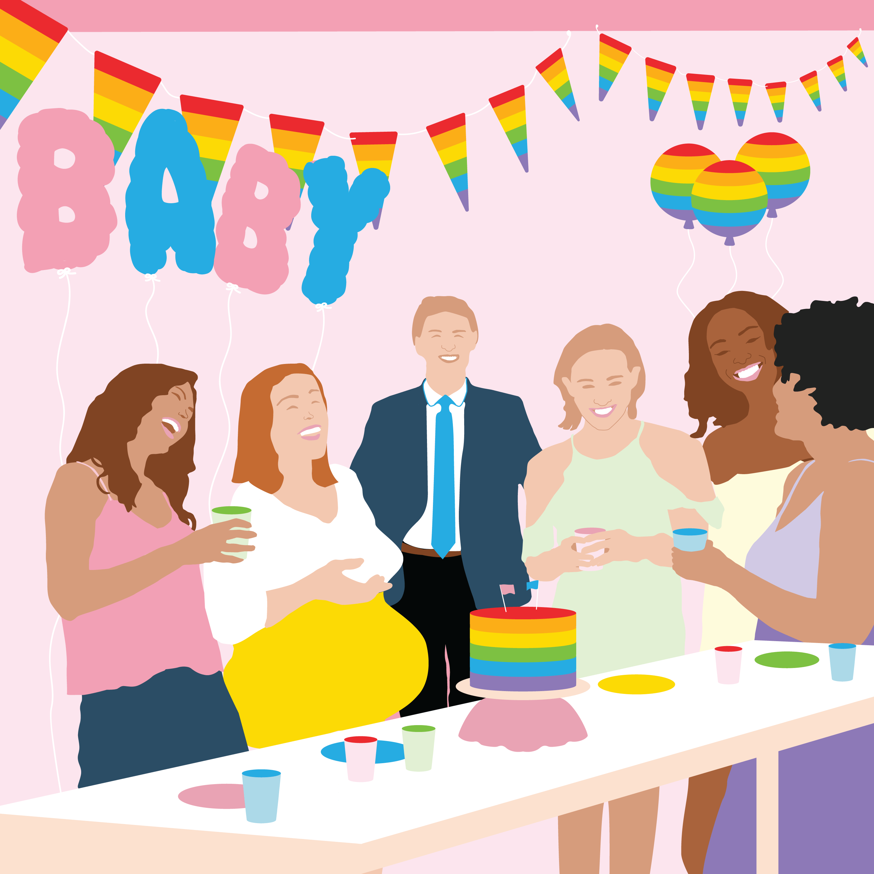 lgbtq office baby shower