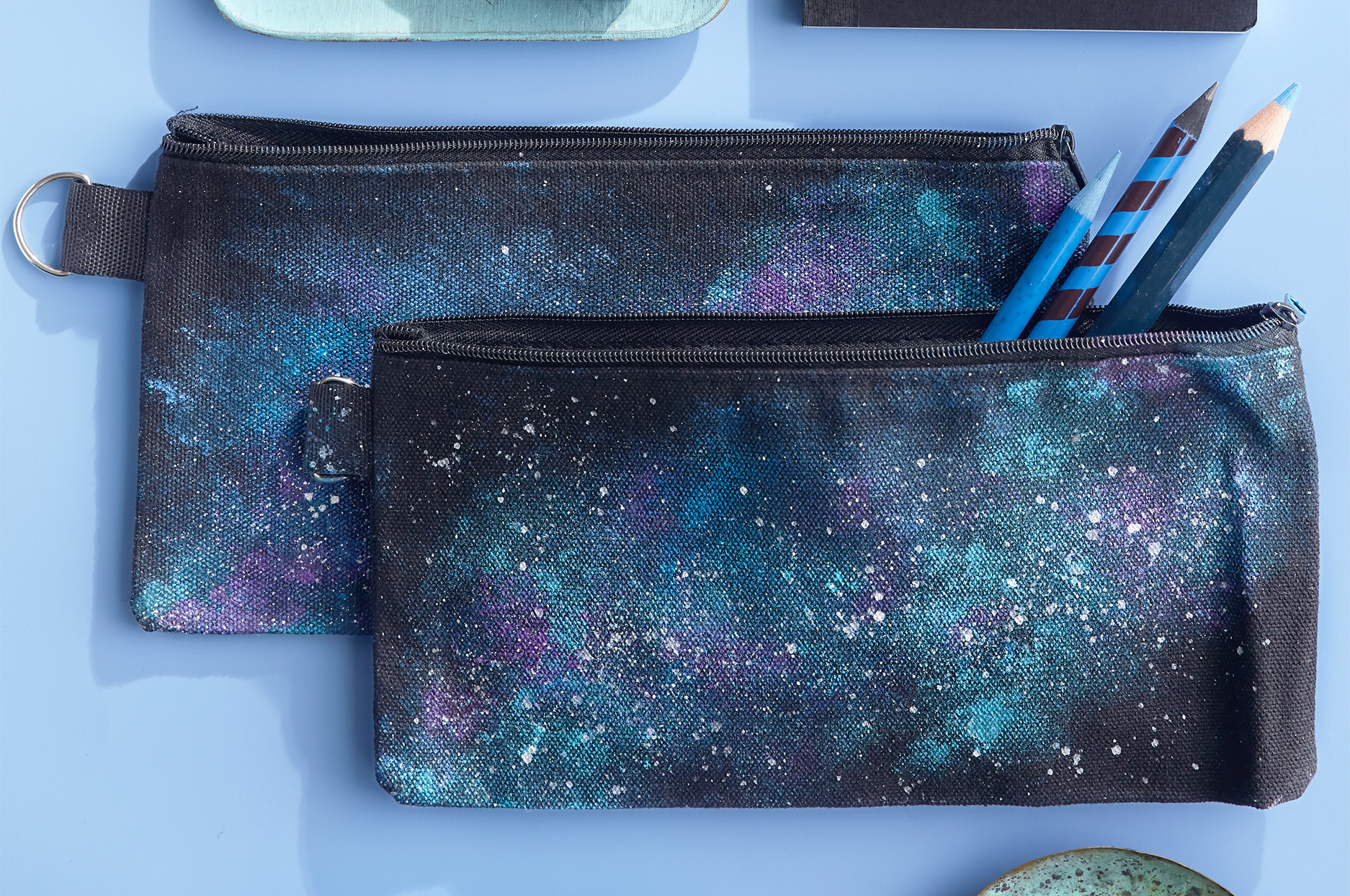 milky-way pencil cases