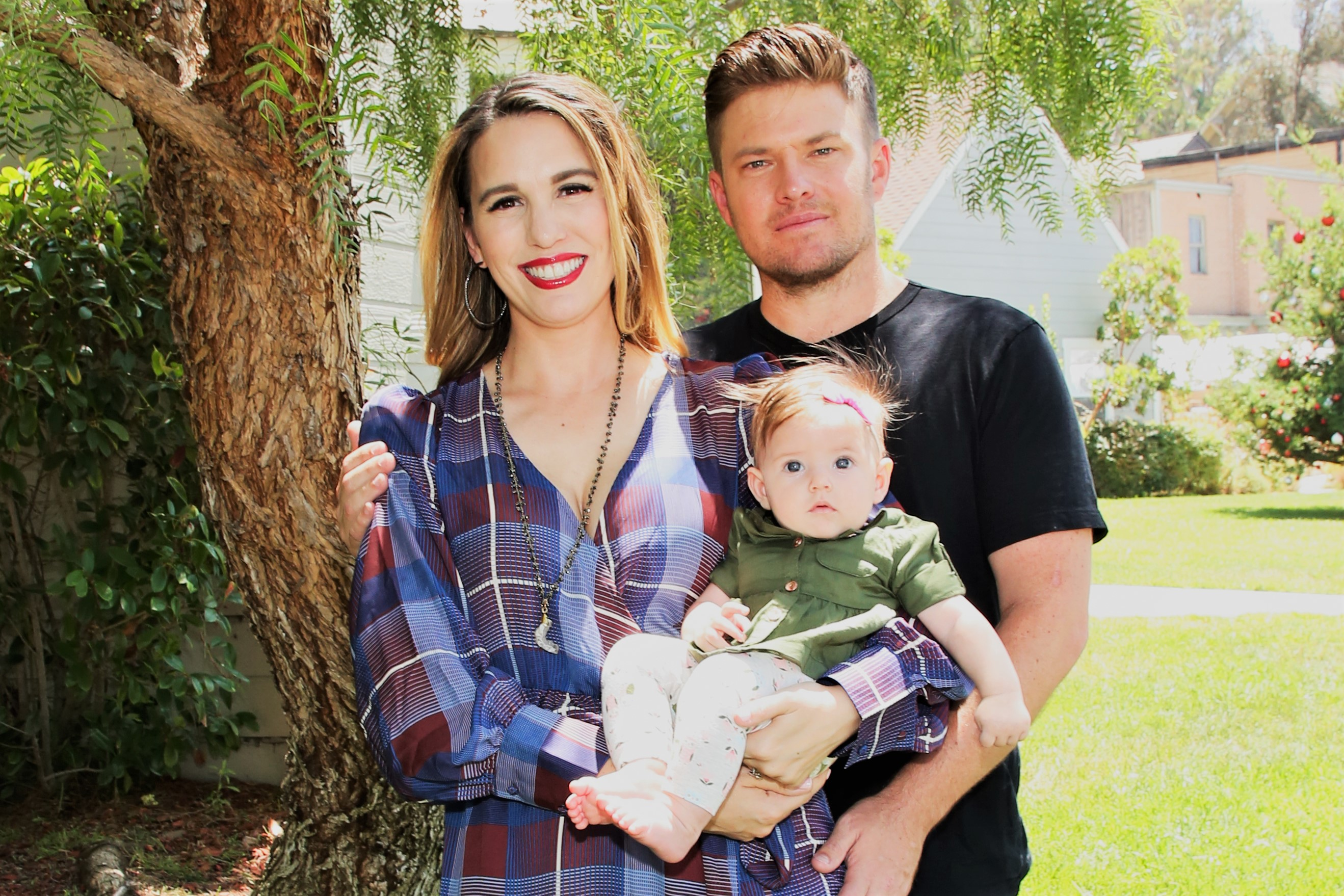 Christy Carlson Romano and Brendan Rooney with Daughter Sophia Elizabeth Rooney