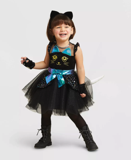 Cat Witch Toddler Halloween Costume