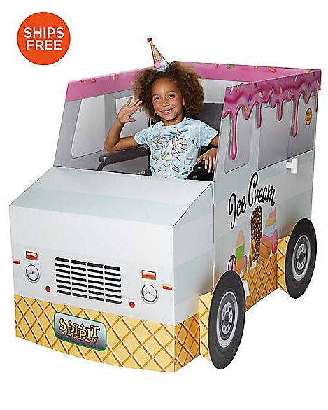 We all scream for ice cream with this adaptable Halloween costume. The boxy facade fits comfortably over your child's wheelchair. Bonus points if she actually has sweet treats for friends and family!