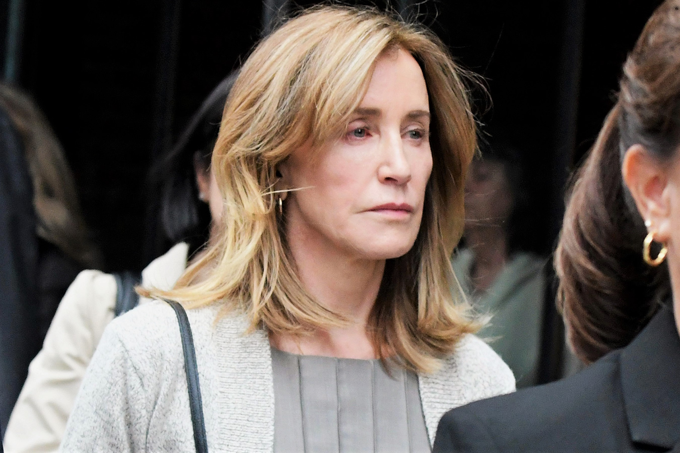 Felicity Huffman at Federal Court in Boston