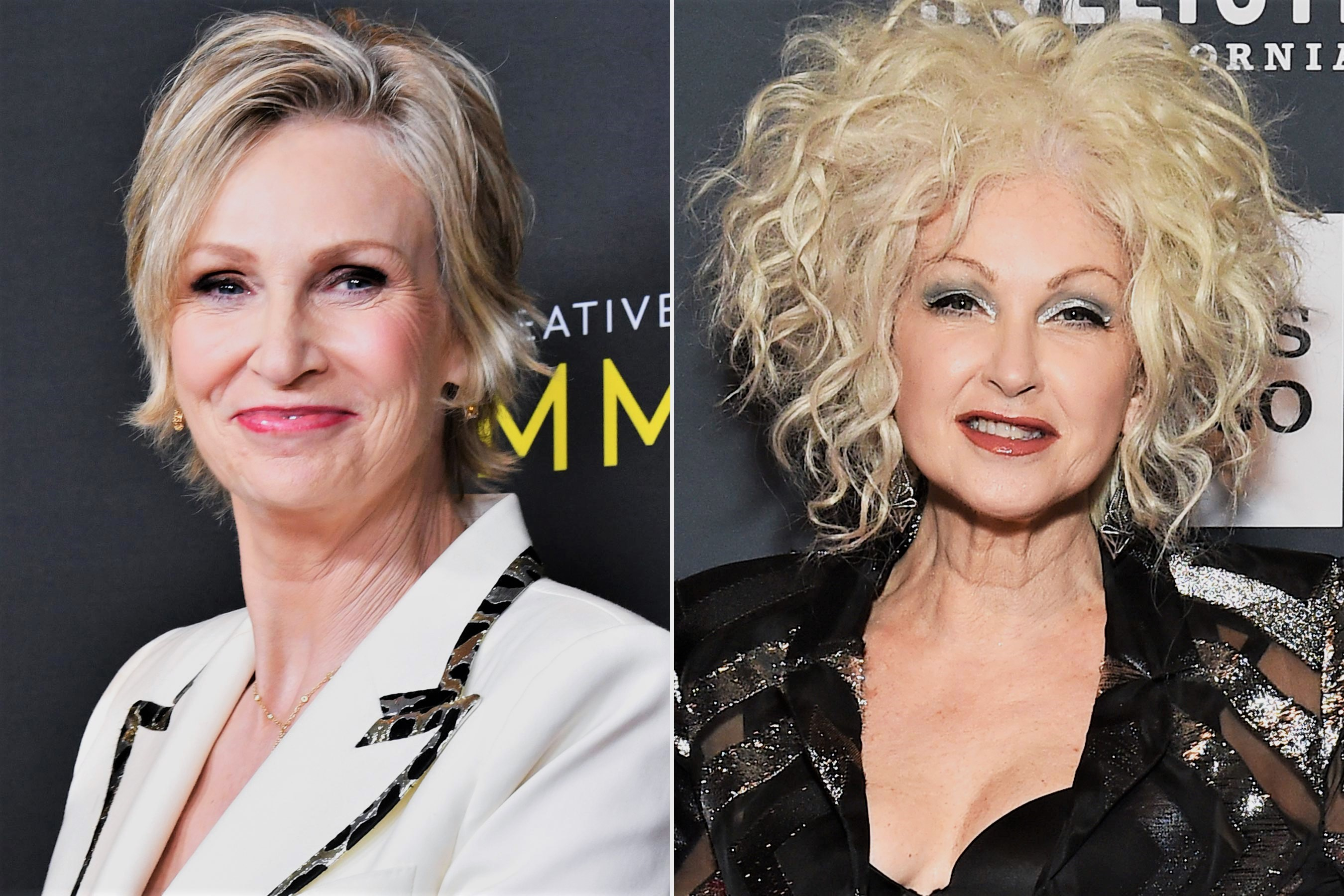 Jane Lynch and Cyndi Lauper