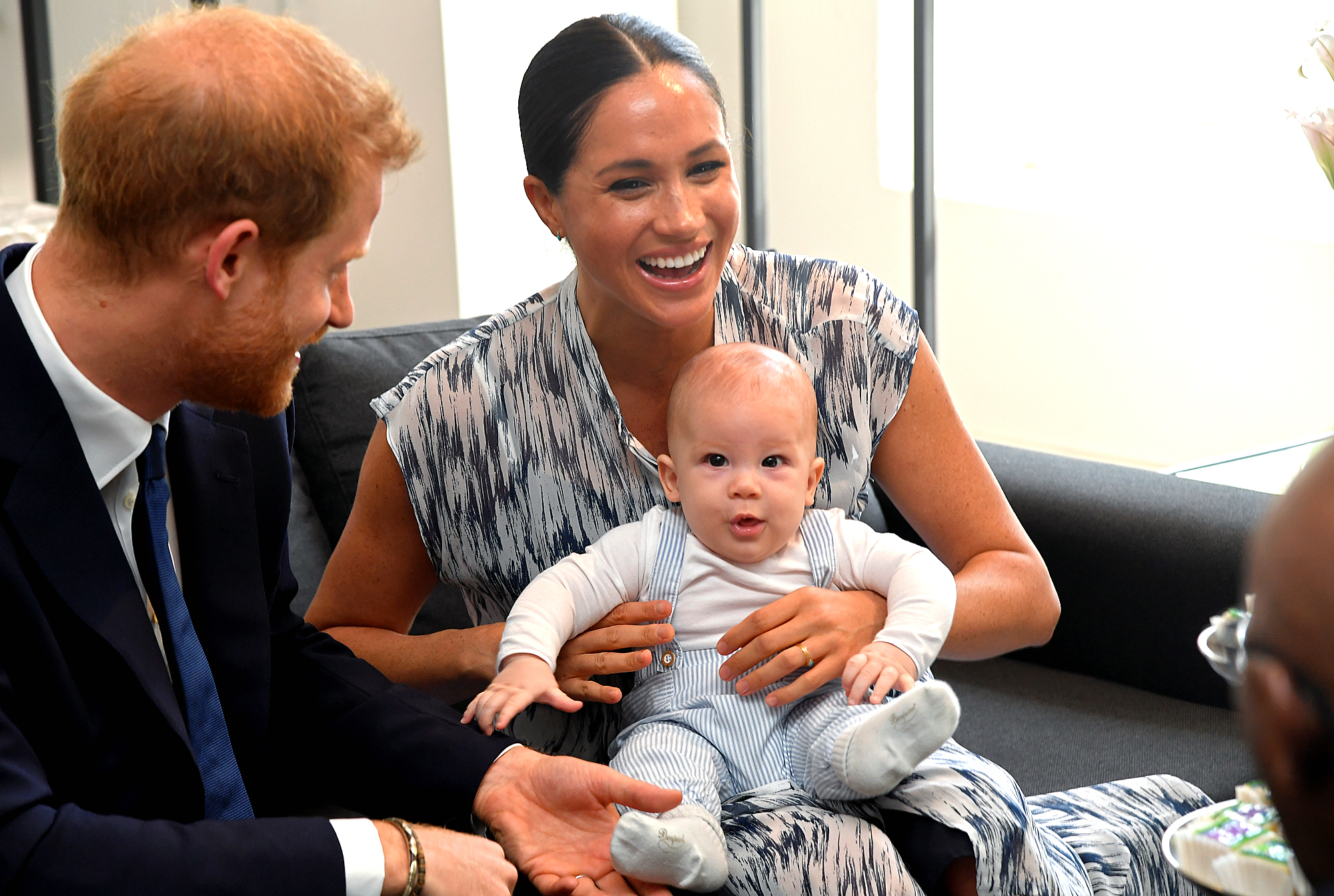 Duchess of Sussex Meghan Markle and Prince Harry The Duke holding baby Archie Visit South Africa