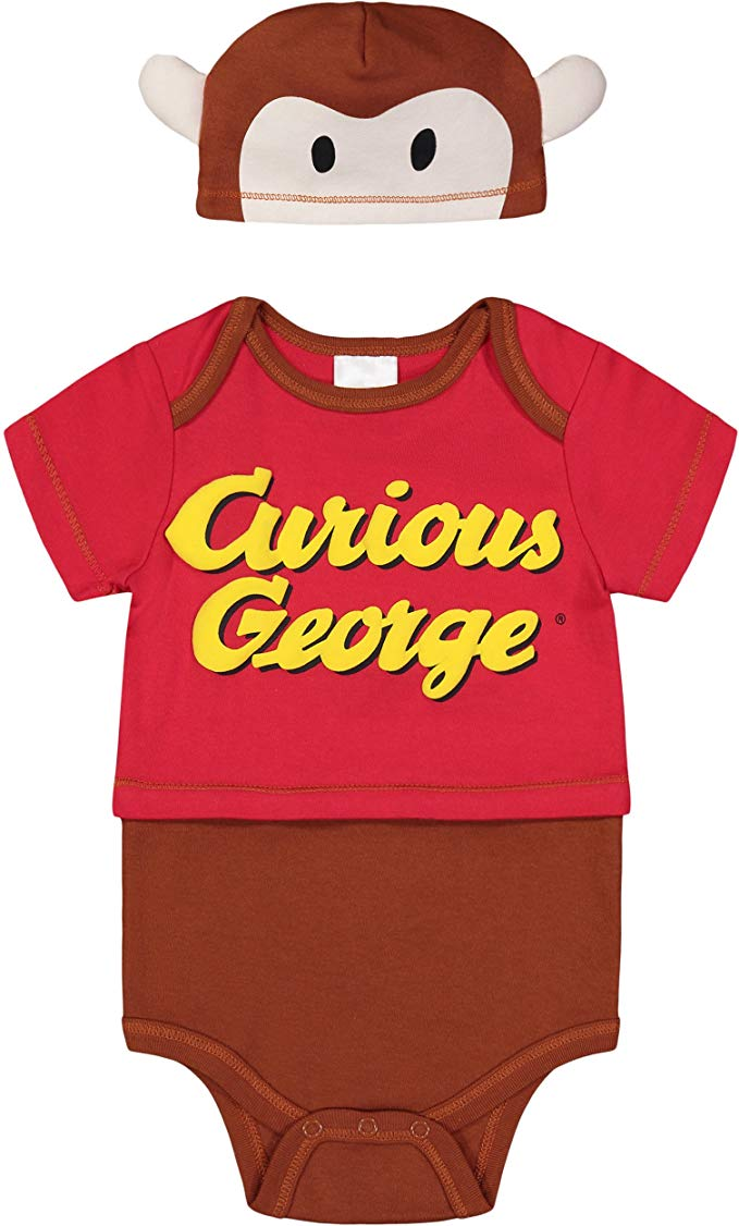 Literary fans will love this Curious George two-piece costume for their little monkey.