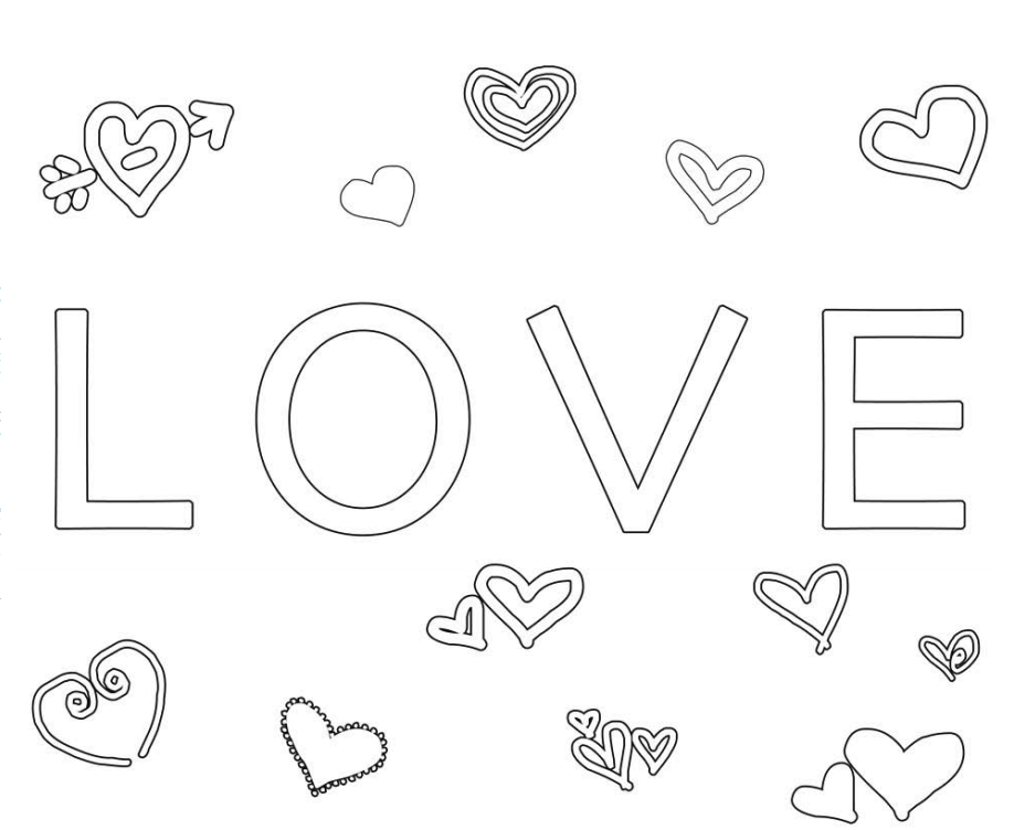 Love-Valentine-Coloring-Page