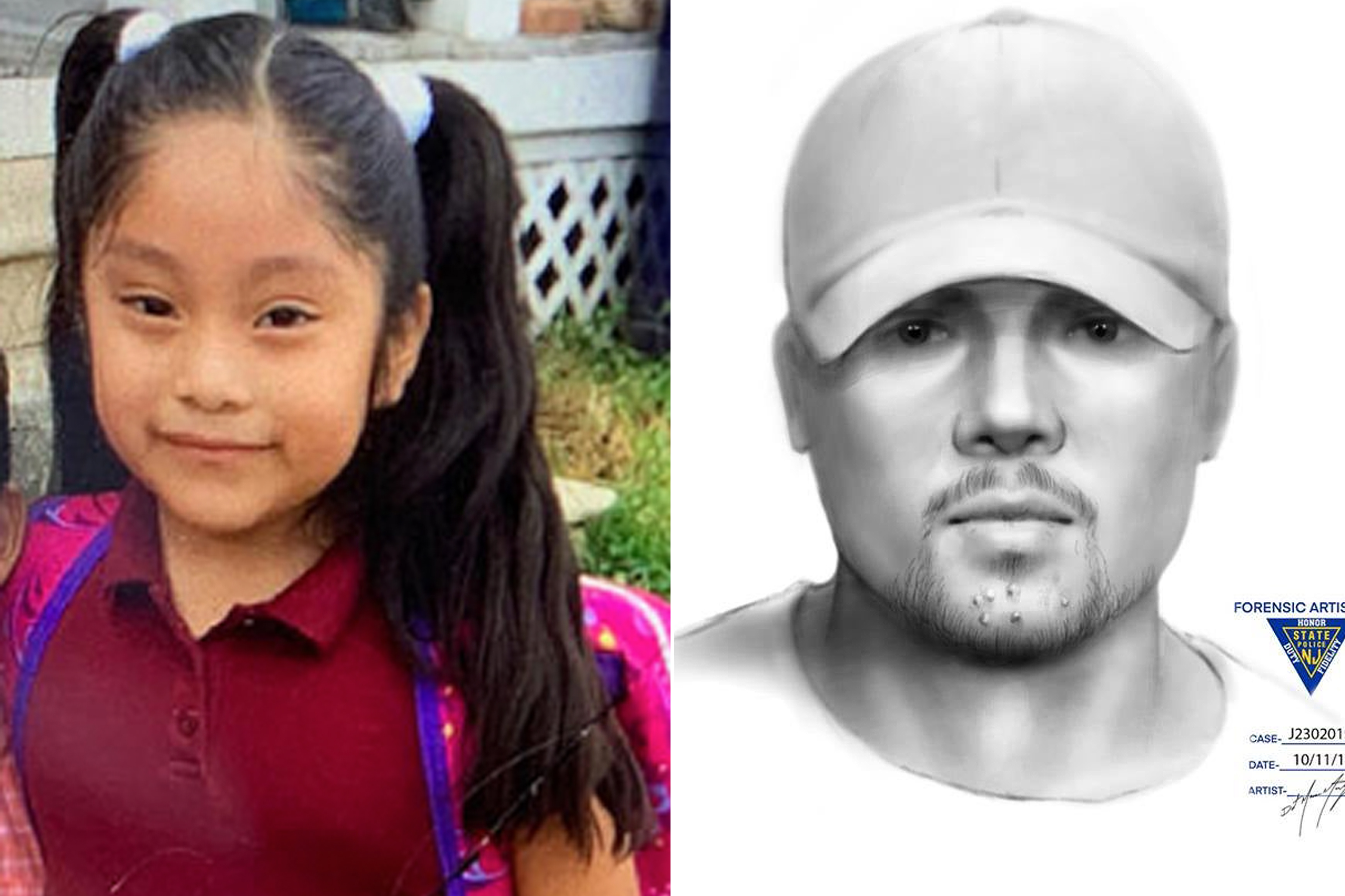 Missing New Jersey girl Dulce Maria Alavez and Kidnapping Suspect Drawing