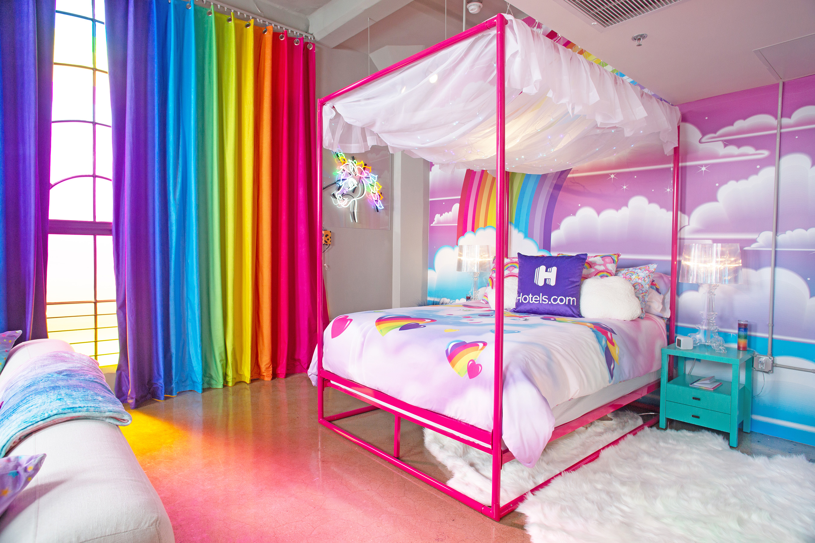 Lisa Frank-Themed Hotel Room 1