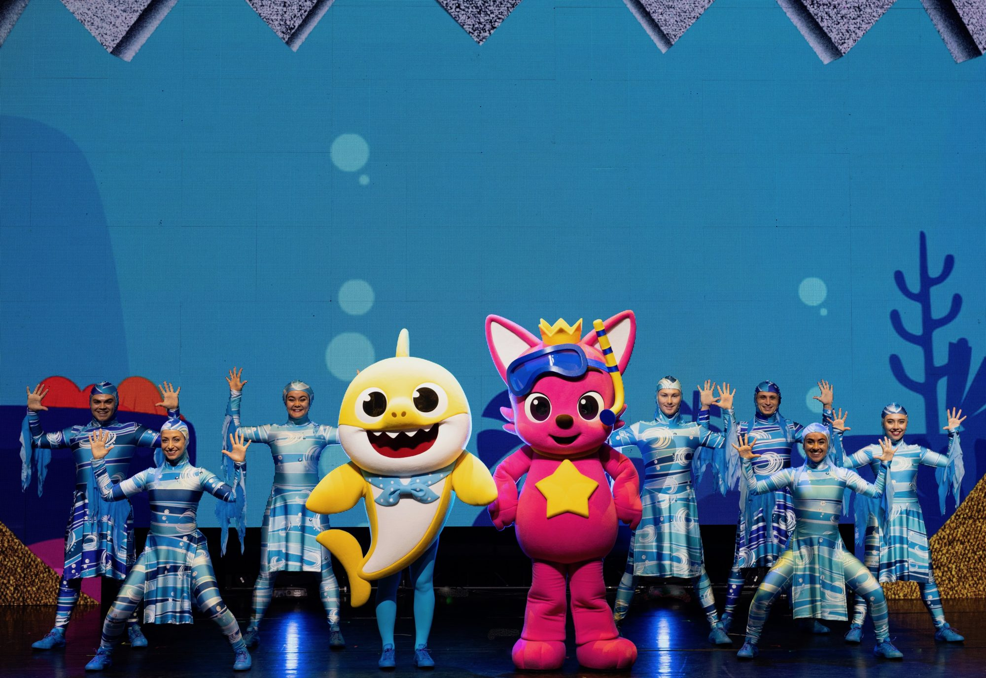 "Ollie the Baby Shark and Pinkfong during ""Baby Shark Live!"""