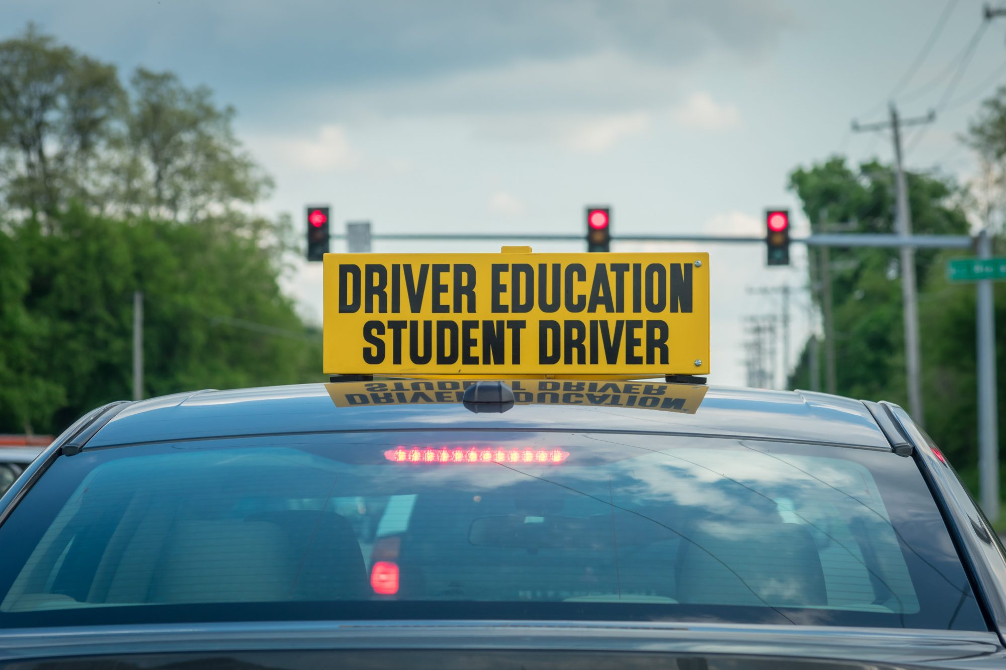 driver education student driver car