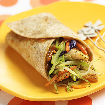 Thai Chicken-Broccoli Wraps