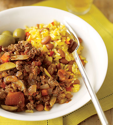 Picadillo with Rice & Beans