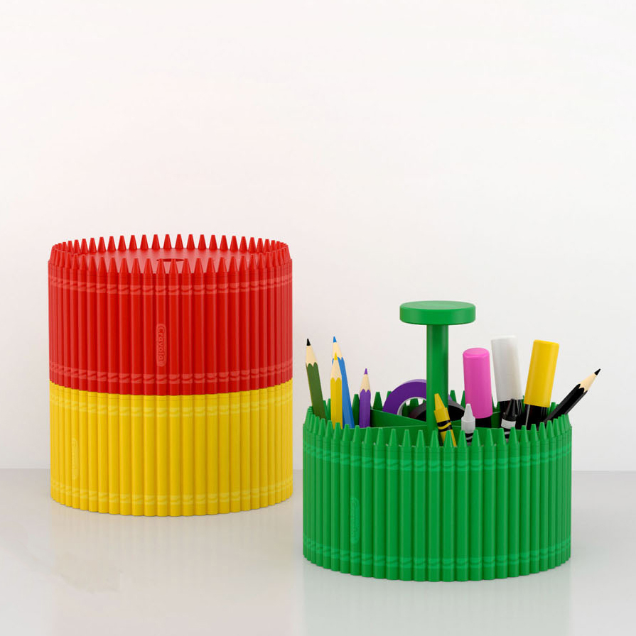 red yellow and green Crayola organizers