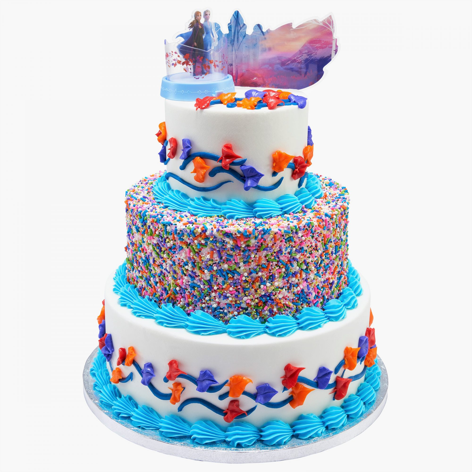Frozen II Ice Cream Cake 3 Tiers
