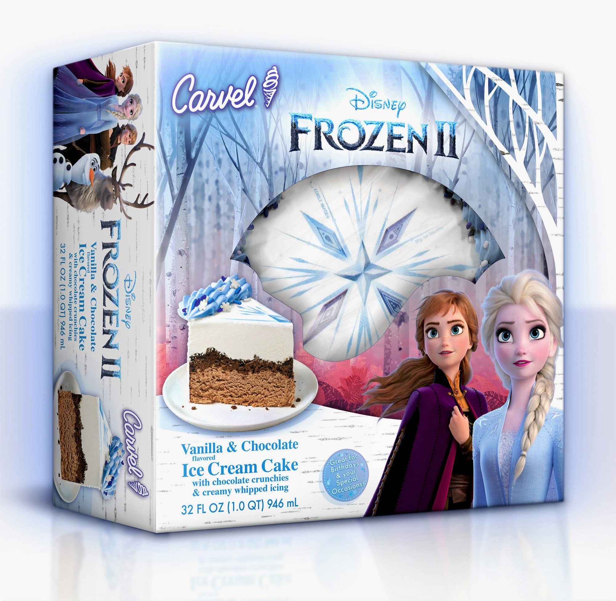 Frozen II ice cream Snowflake Cake