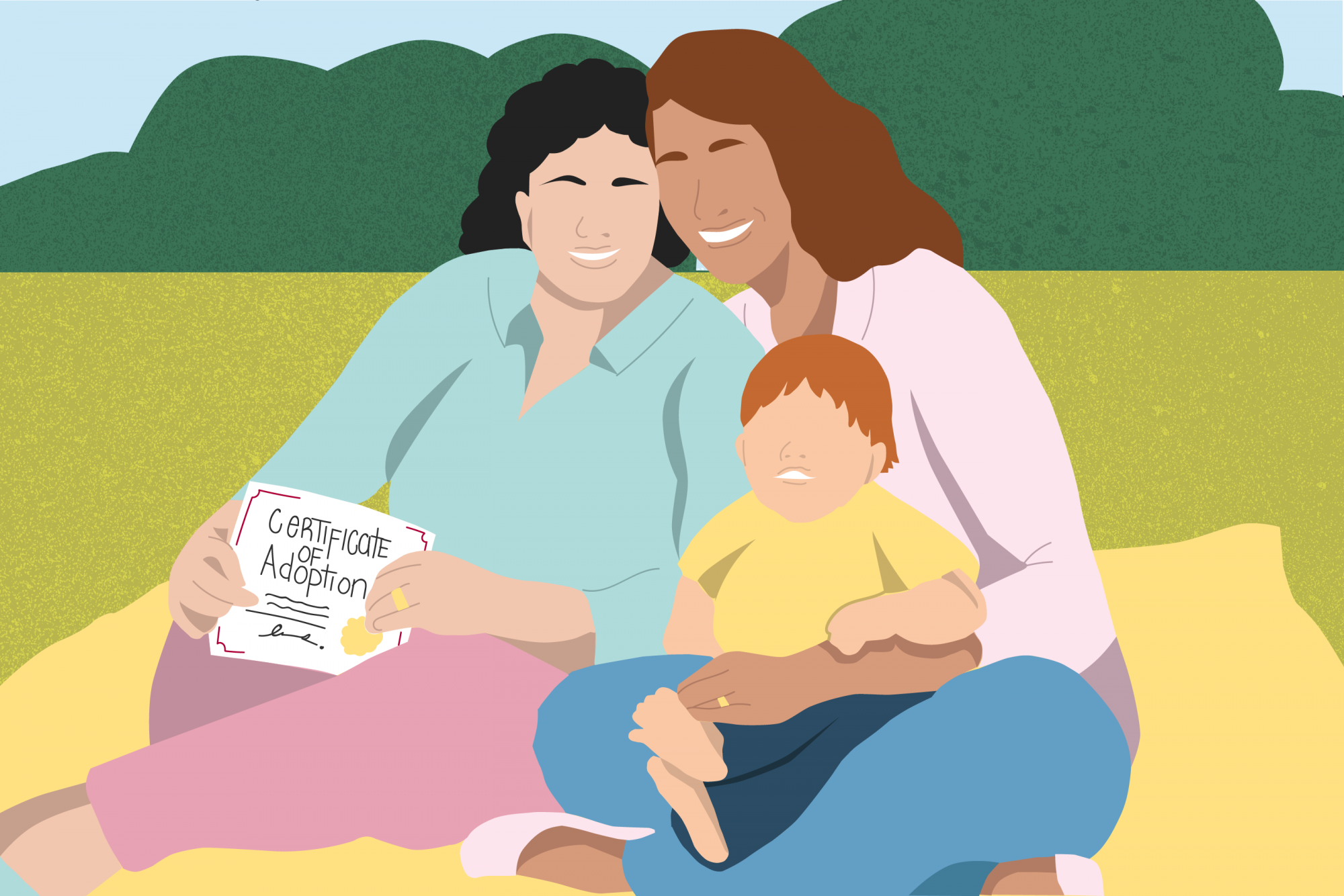 NonBio Second Parent Adoption Illustration