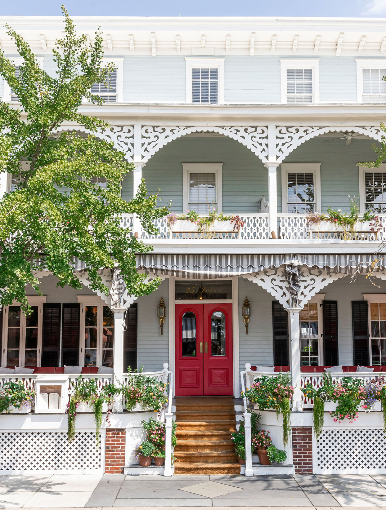 The Virginia Hotel porch front