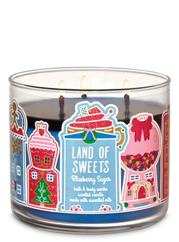 Bath & Body Works 3-Wick Candle Land of Sweets Blueberry Sugar