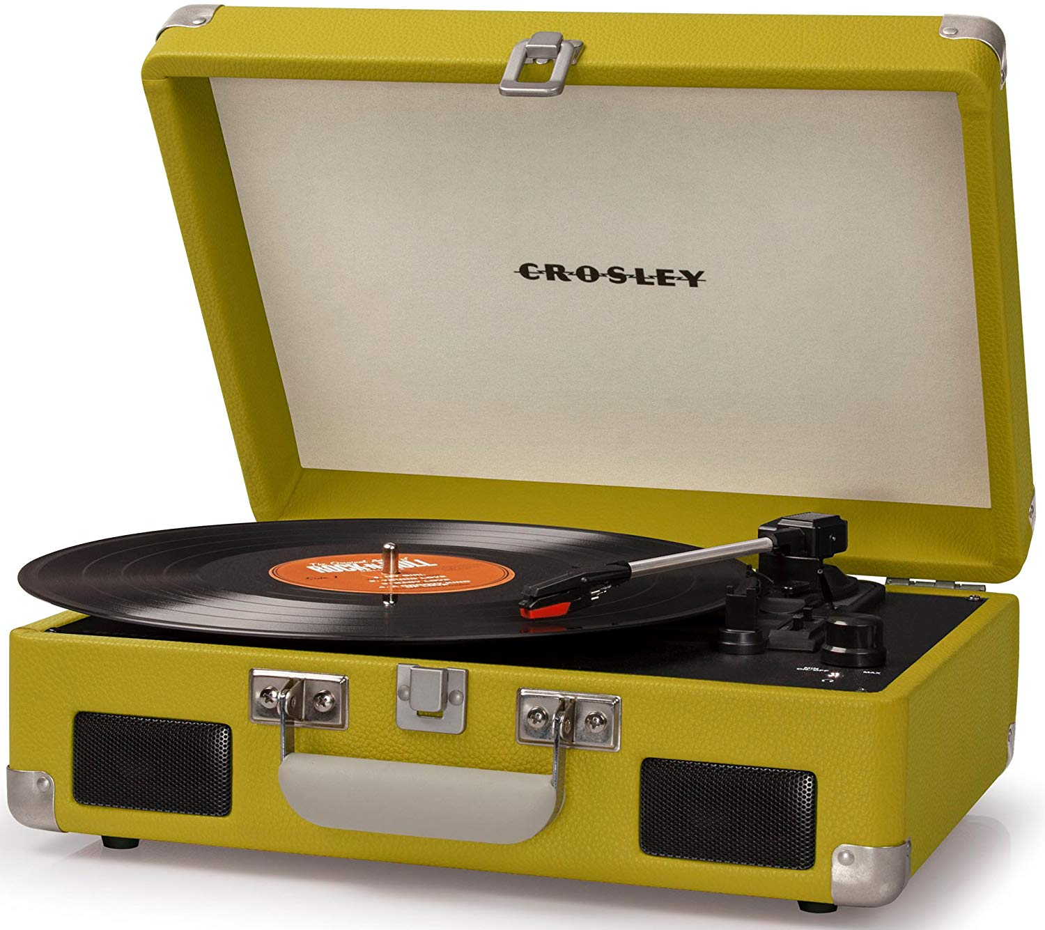 Crosley CR8005C-GR Cruiser II Portable Battery Powered 3-Speed Turntable