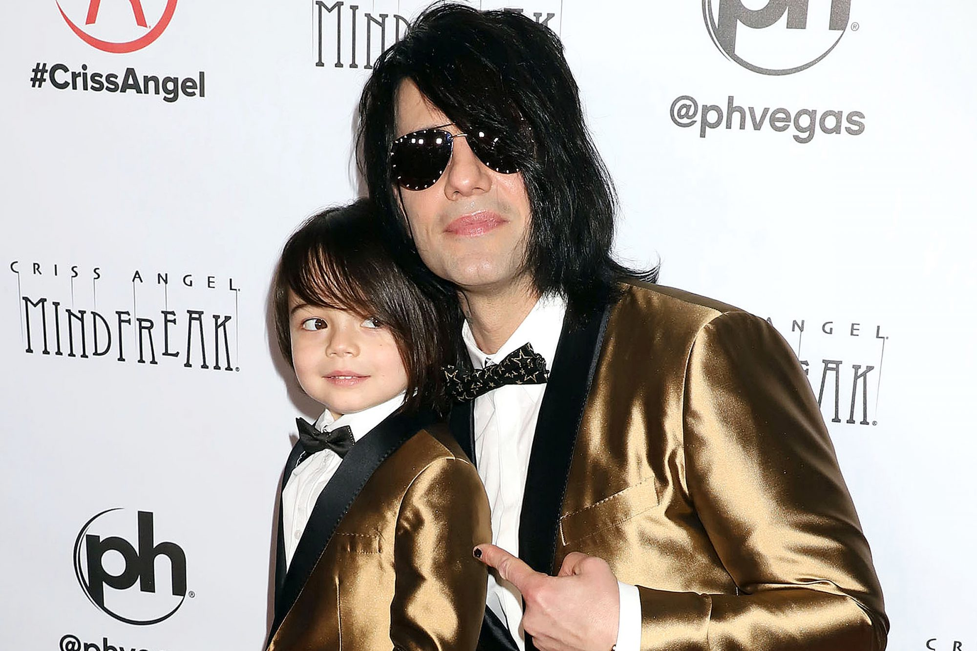Criss Angel and son Johnny Christopher