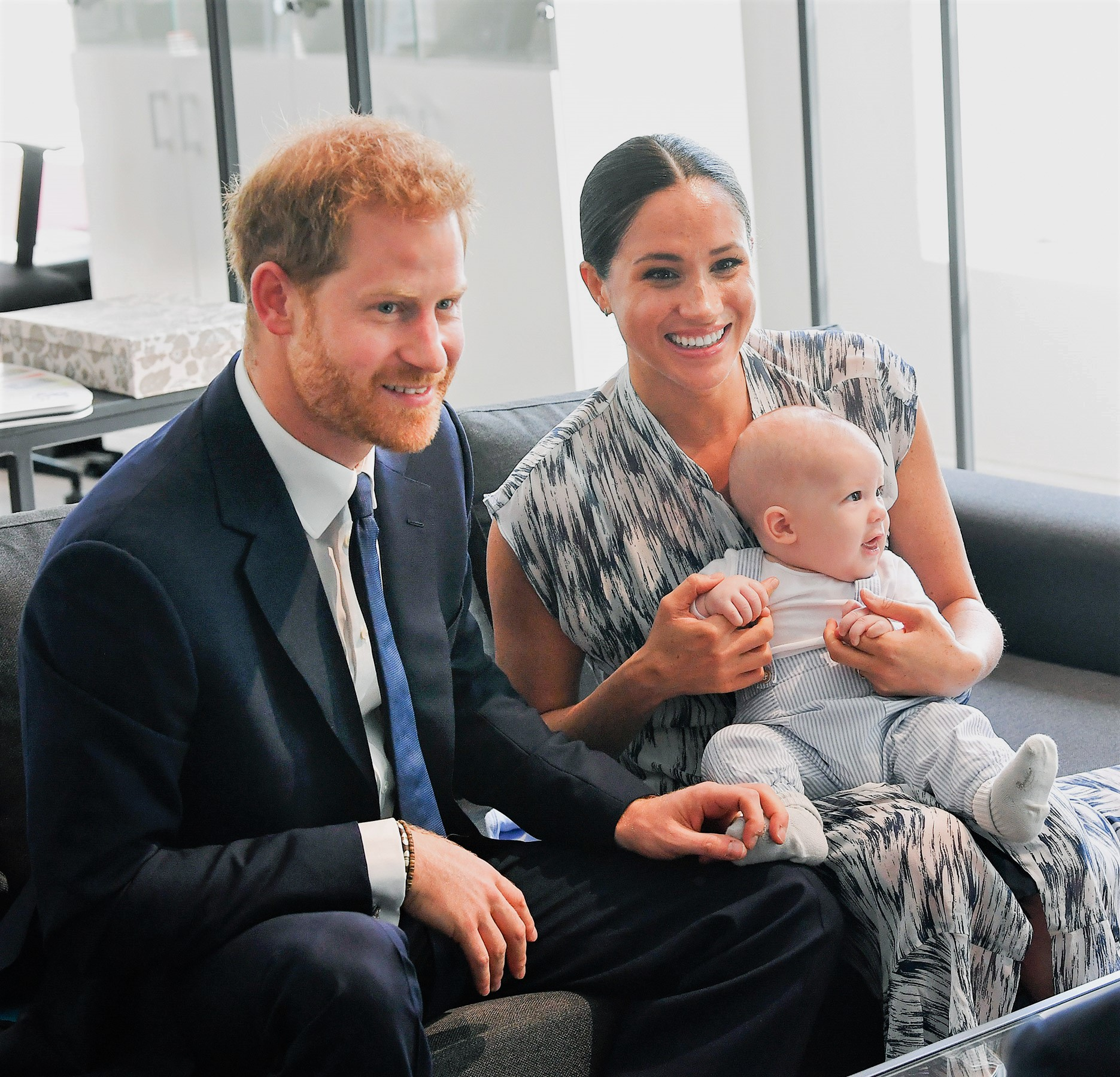 Meghan Markle and Prince Harry Holding Baby Archie in South Africa