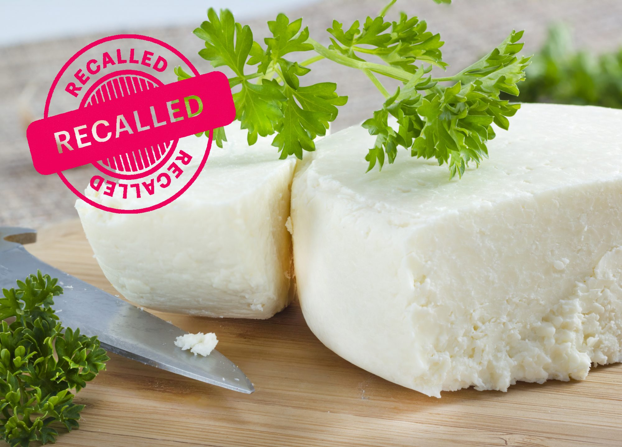 RECALL-Cotija cheese with cilantro on cutting board