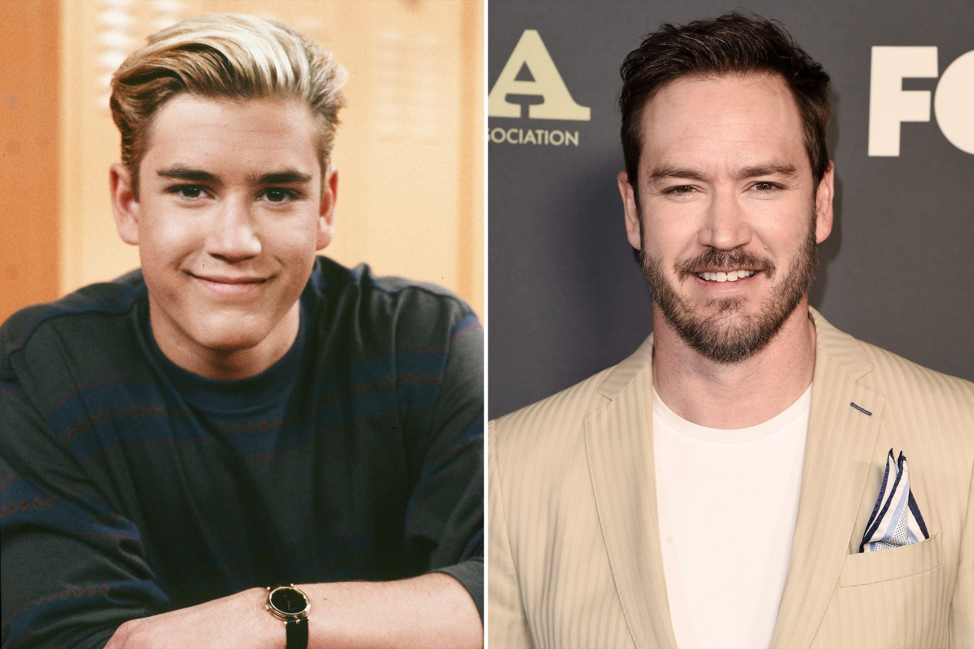 Actor Mark-Paul Gosselaar from Saved by the Bell Then and Now