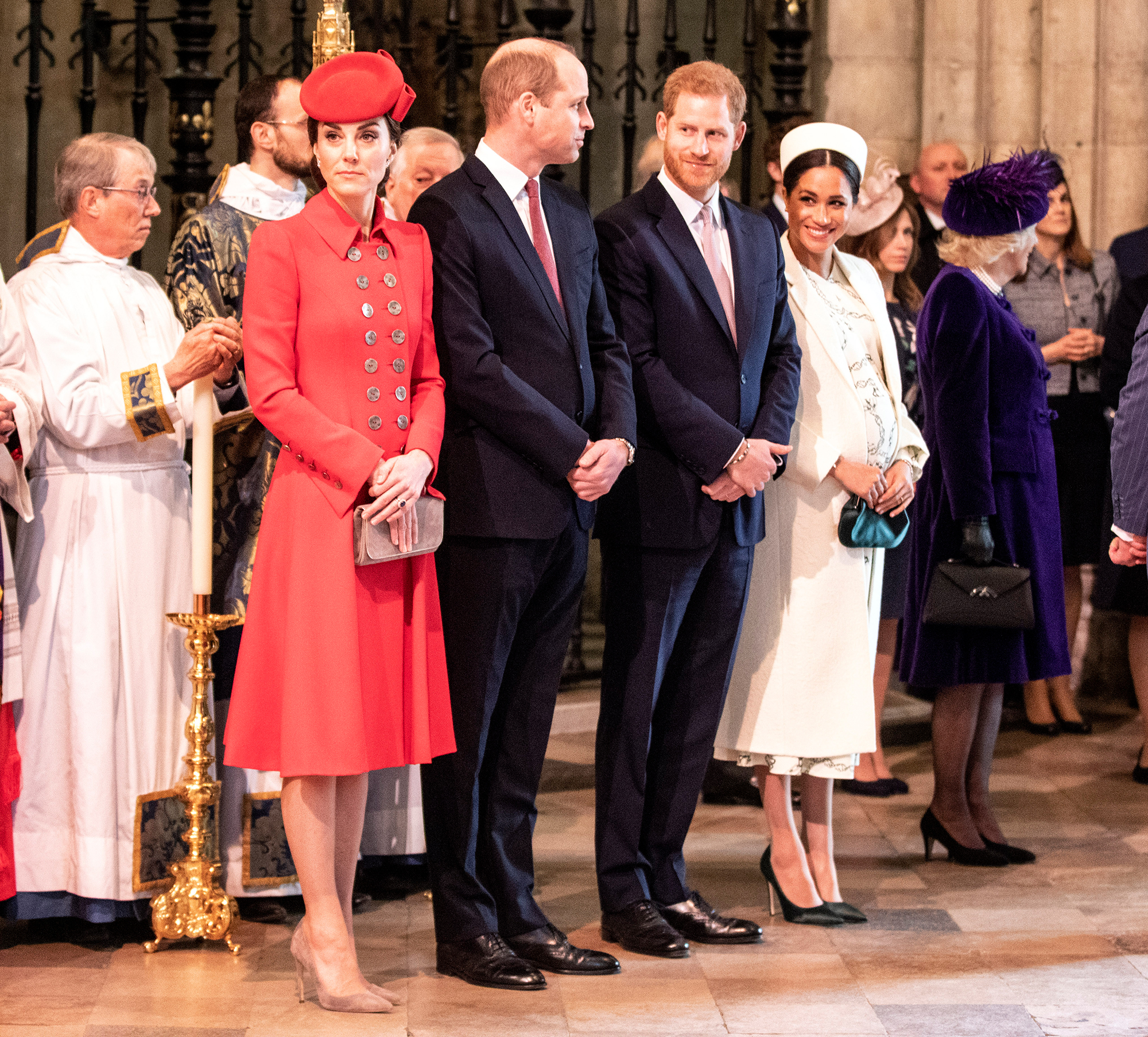 Kate Middleton Prince William Prince Harry Meghan Markle on Commonwealth Day 2019