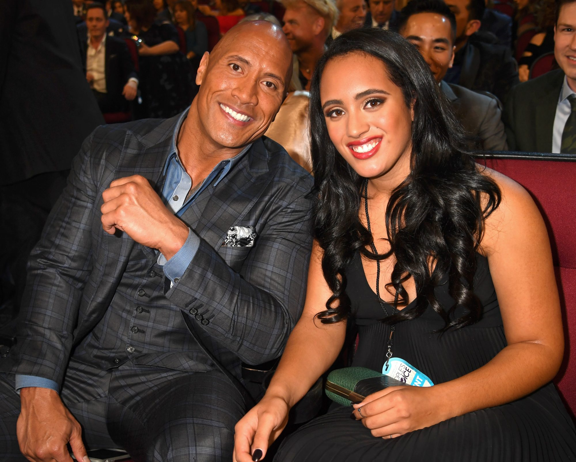 Dwayne Johnson and Simone Alexandra Johnson