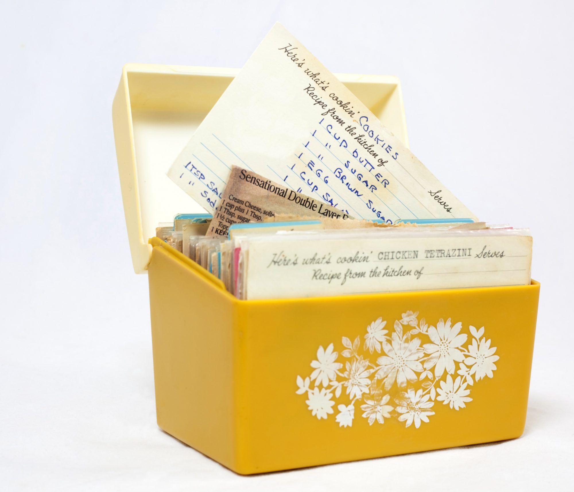 container of family recipes