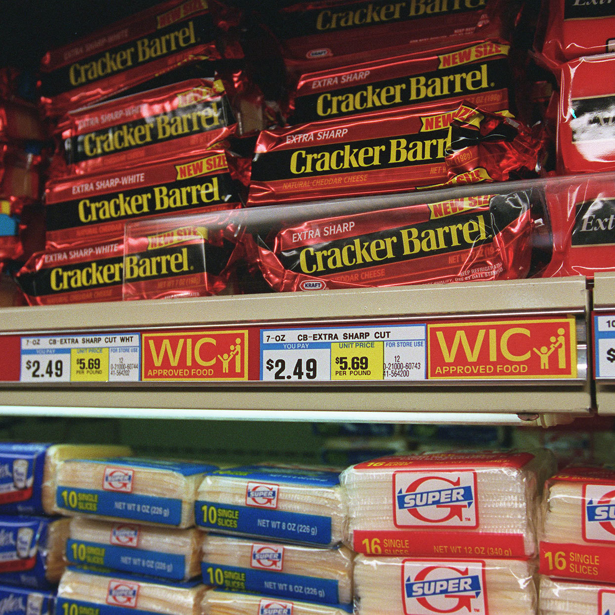 Cheese in a grocery store