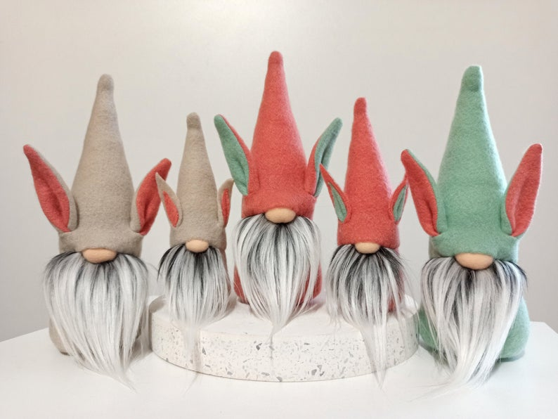 set of plush easter gnomes