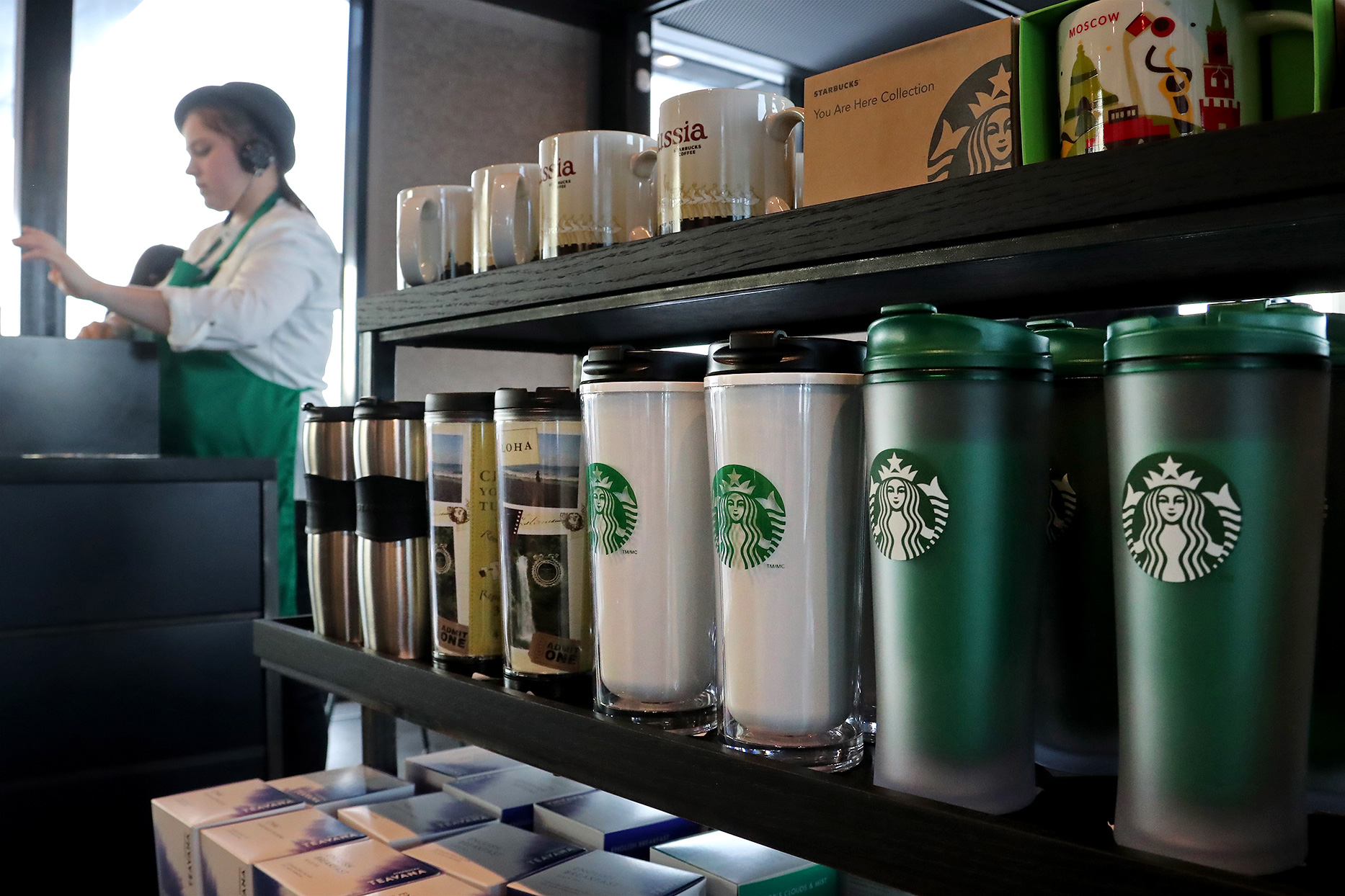 starbucks location with reusable cups