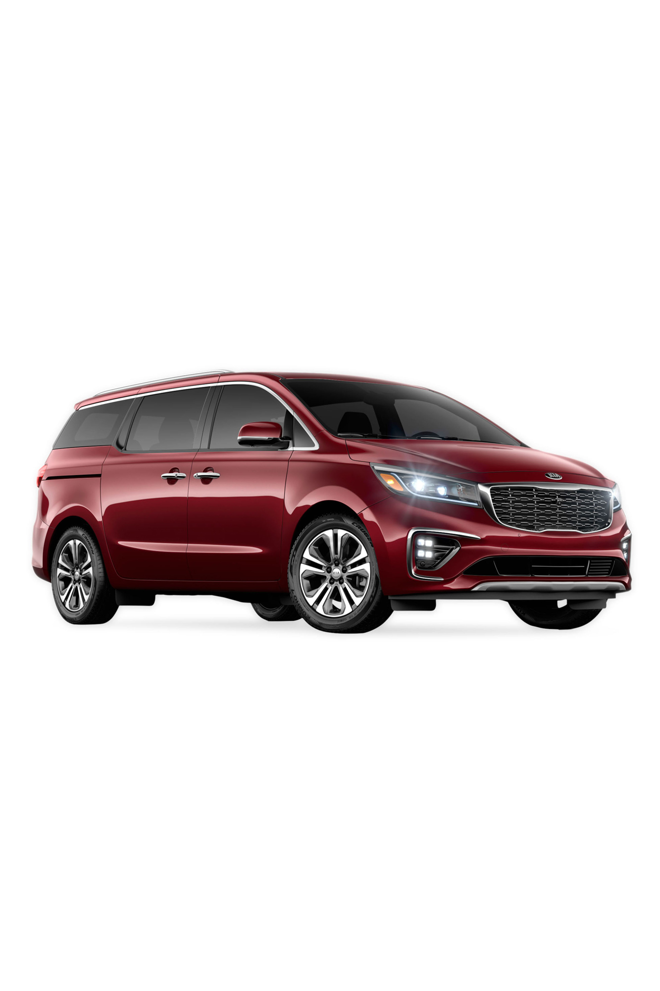 dark red kia sedona