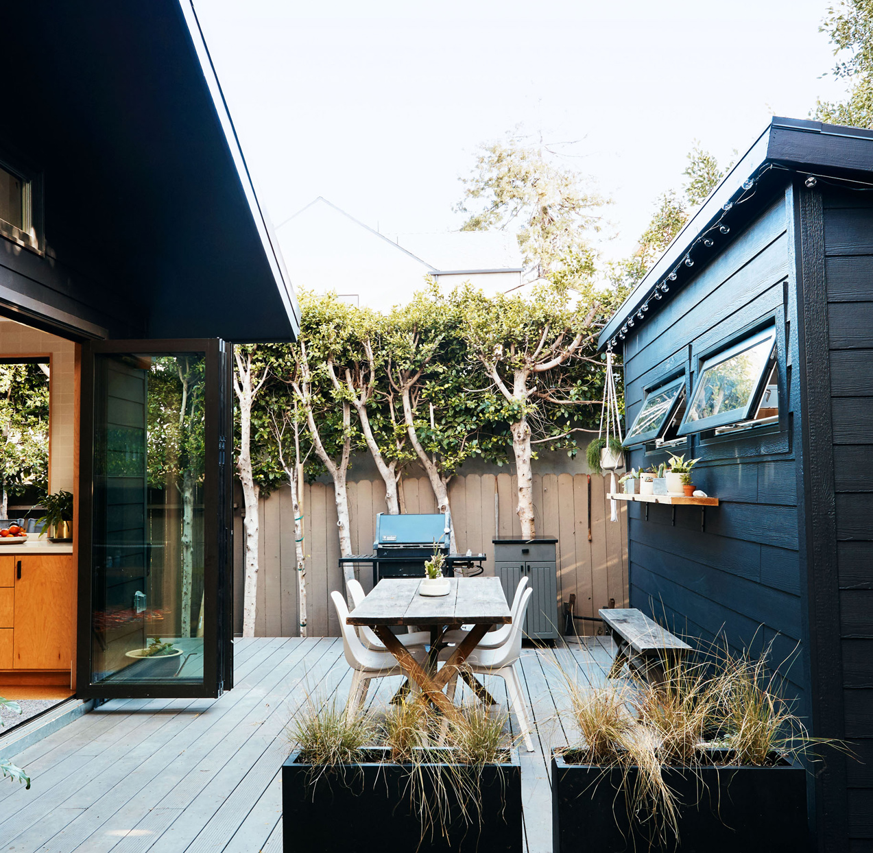 backyard deck with outdoor seating