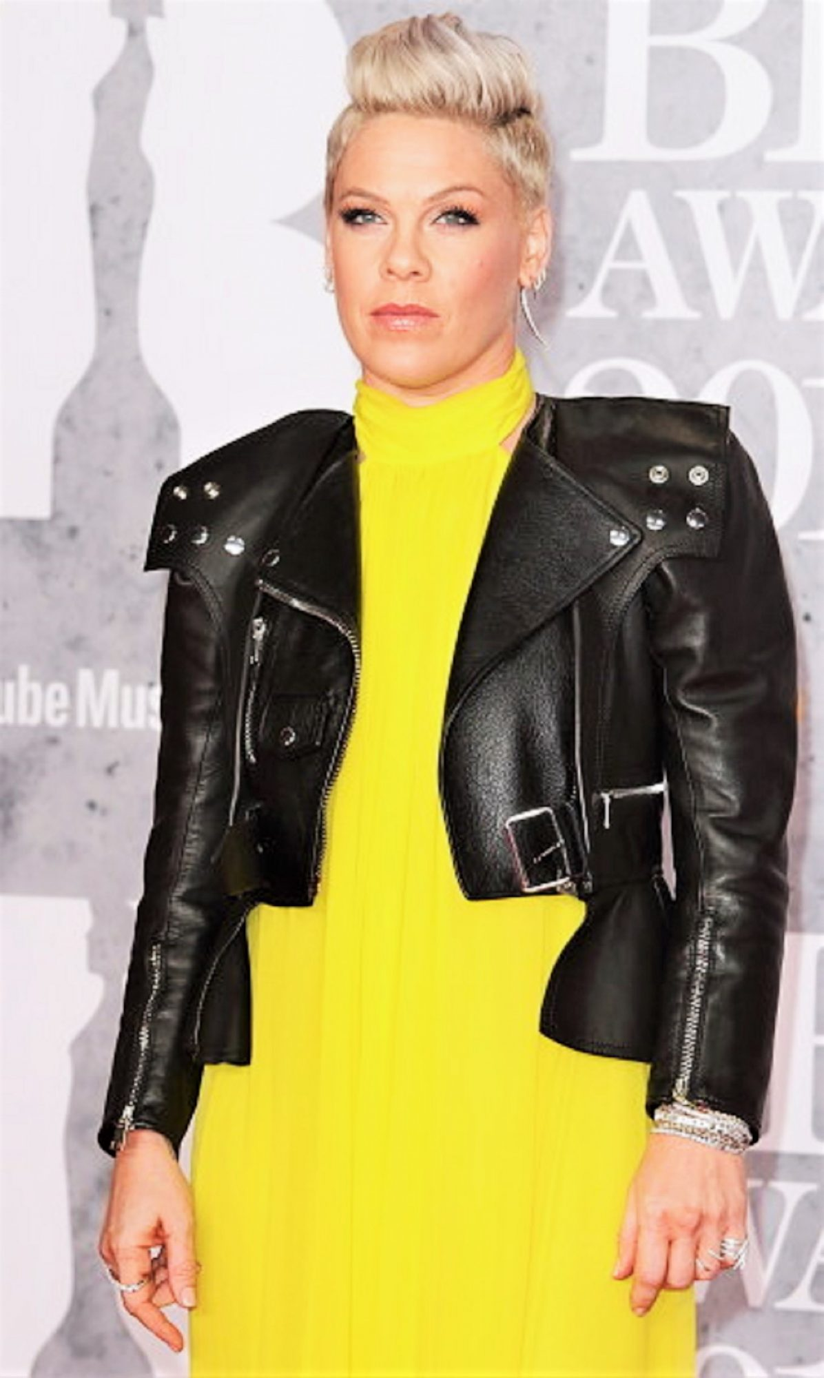 Pink seen on the red carpet during The BRIT Awards 2019