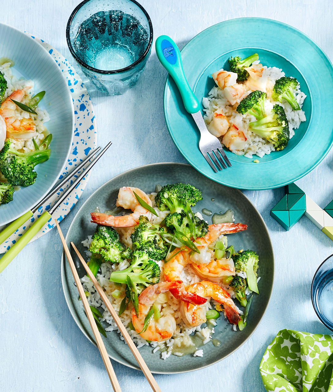 Stir-Fried Shrimp and Broccoli With Miso