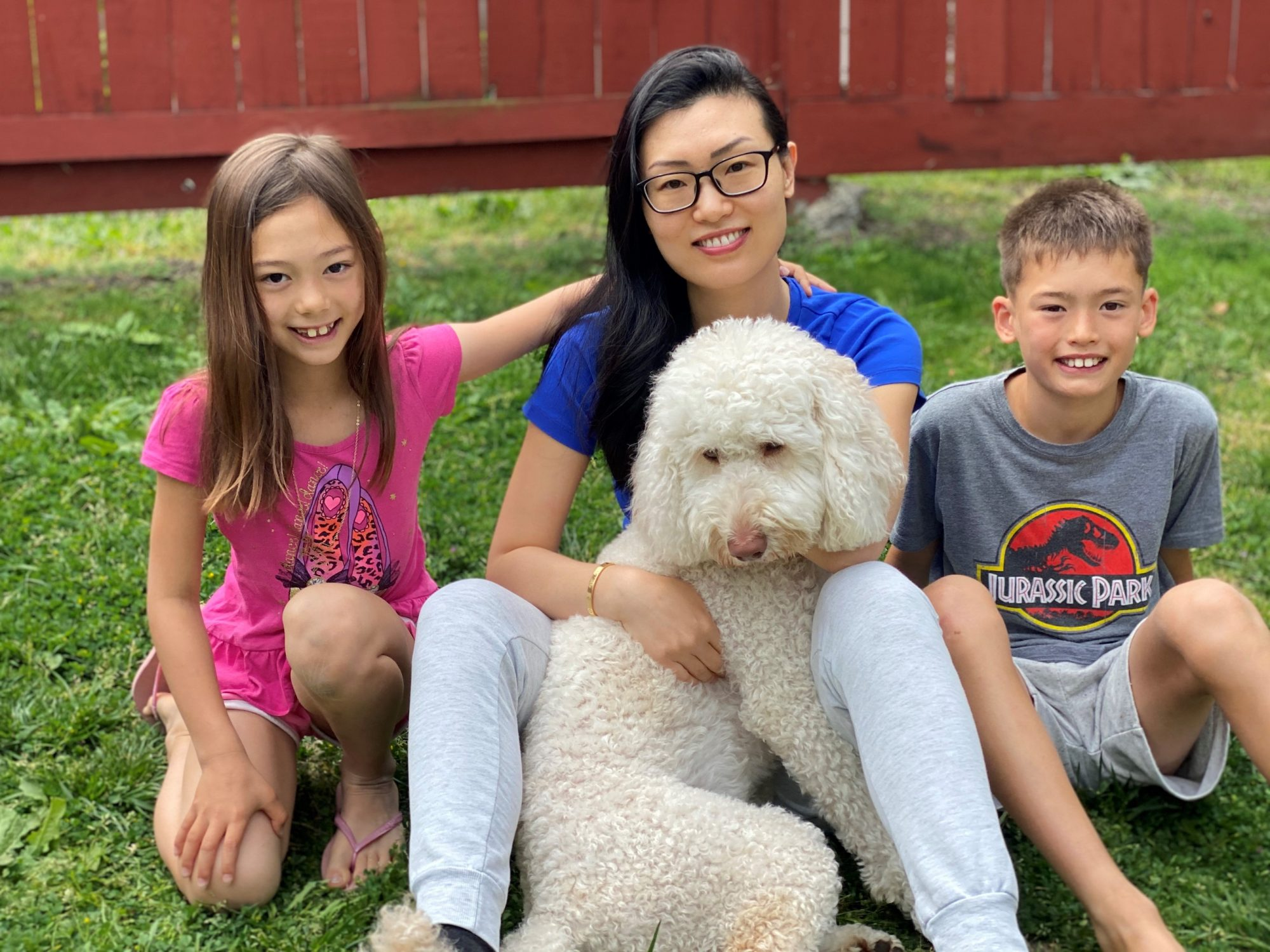 Kelly Yang and her kids