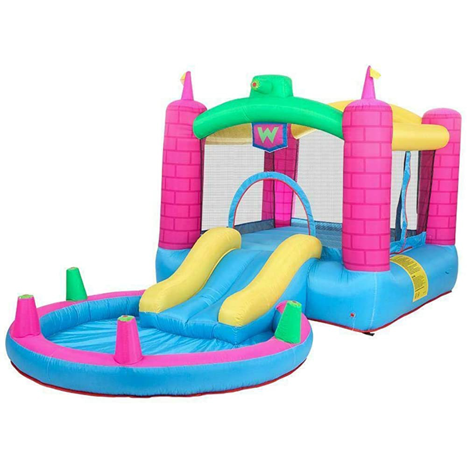 Safe Inflatable Bounce House 2 Play Area Kids Jump Castle